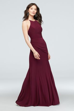 Soft & Flowy DB Studio Long Bridesmaid Dress