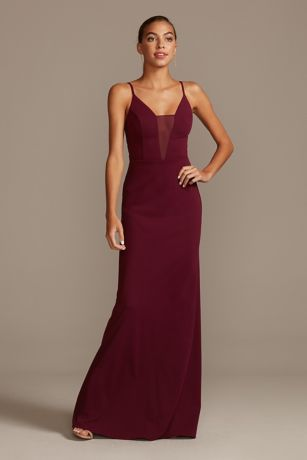 Structured DB Studio Long Bridesmaid Dress