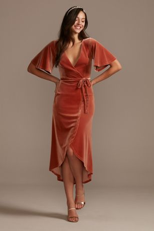 Soft & Flowy;Structured DB Studio Midi Bridesmaid Dress
