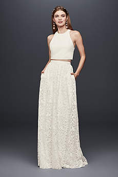 Long Separates Boho Wedding Dress - DB Studio