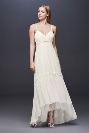 High Low Sheath Wedding Dress - DB Studio