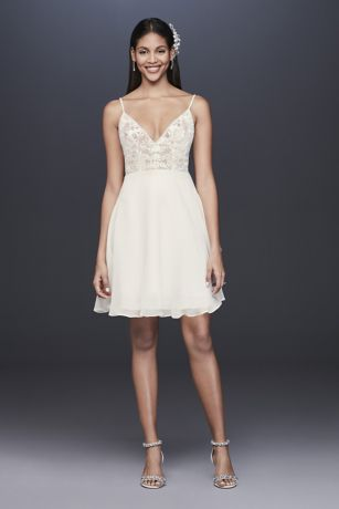 Short A-Line Wedding Dress - DB Studio