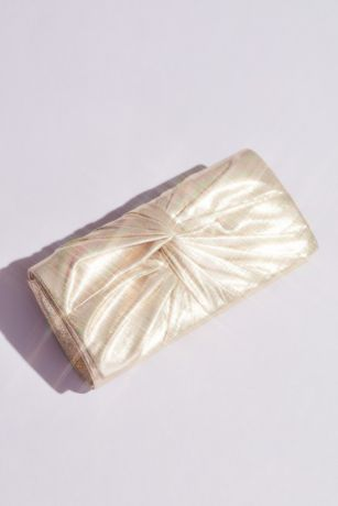 Pleated Metallic Clutch with Chain