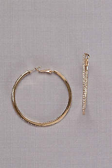 Crystal-Traced Hoop Earrings