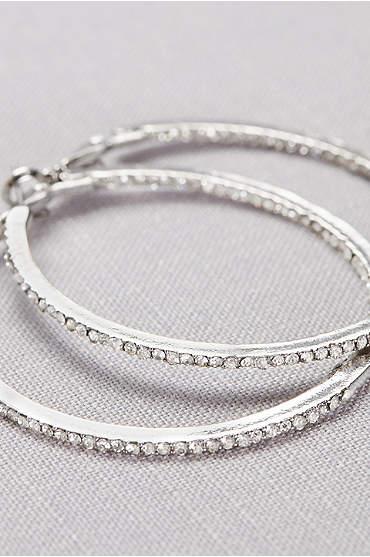 Crystal-Traced Hoop Earrings