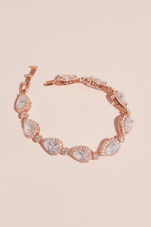 Teardrop Crystal Pave Outlined Bracelet
