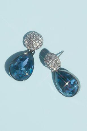 Swarovski Crystal Teardrop Post Earrings