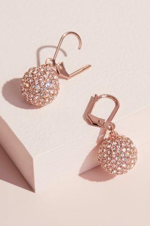 Swarovski Crystal Fireball Leverback Earrings