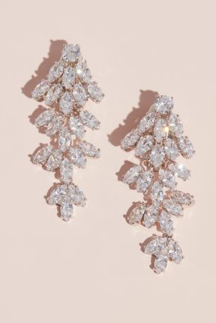 Marquise Crystal Cubic Zirconia Clip-On Earrings
