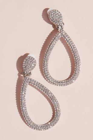 Clip-On Swarovski Open Pear-Shaped Drop Earrings