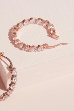 Cubic Zirconia Inside-Out Hoop Earrings