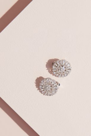 Marquise and Pear Sunburst Lever-Back Earrings