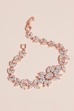 Blooming Marquise-Cut Crystal Floral Bracelet