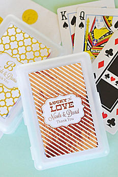 Personalized Metallic Foil Playing Cards EB2033FW