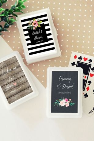 Personalized Floral Garden Playing Cards