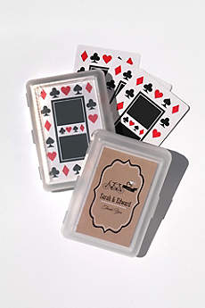 Personalized Vintage Wedding Playing Cards