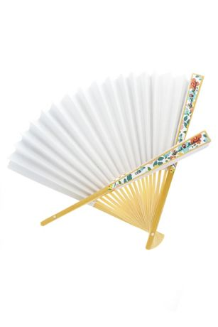 Personalized Exclusive Floral Colored Paper Fans