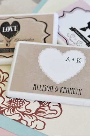 Personalized Vintage Wedding Mini Mint Favors