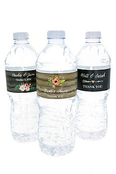 Personalized Floral Garden Water Bottle Labels