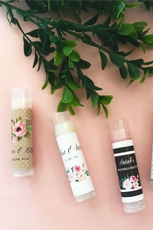 Personalized Floral Garden Lip Balm Tubes