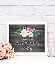Personalized Floral Garden Wedding Sign
