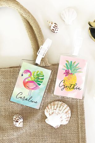 Personalized Tropical Beach Luggage Tags