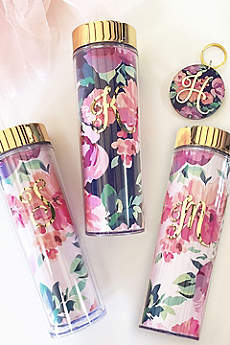 Personalized Floral Skinny Tumbler