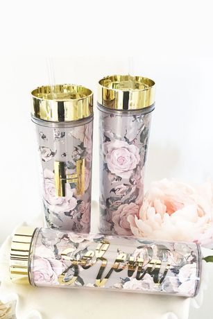 Personalized Rose Garden Tumblers