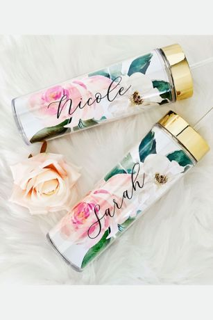 Personalized Spring Rose Tall Tumblers