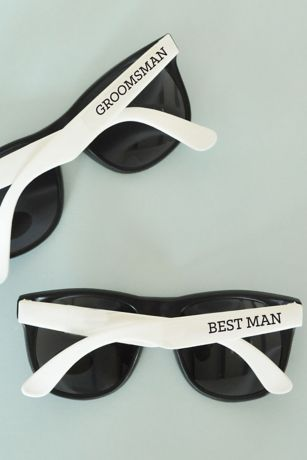 White Groom and Groomsmen Sunglasses Set of 6