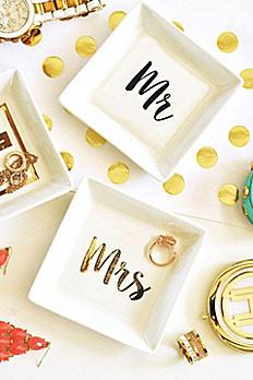 Mr and Mrs White Ring Dish EB3125MRS