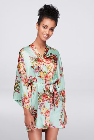 Botanical Satin Robe