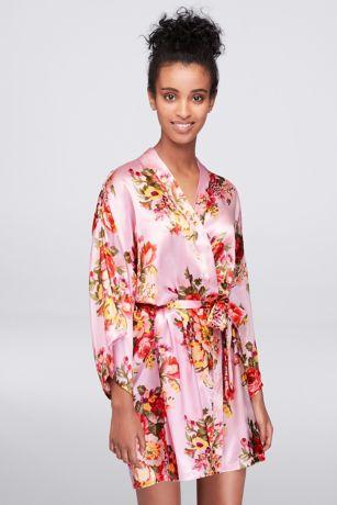 Floral Satin Robe