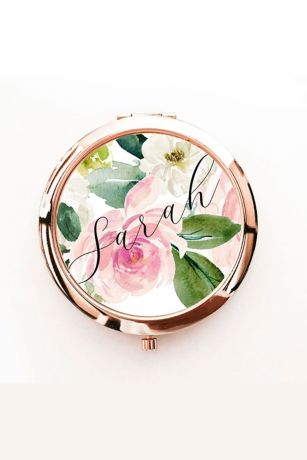 Personalized Spring Floral Compact