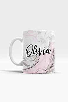 Personalized Pink Marble Coffee Mug EB3179PMB