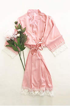 Blank Cotton Lace Robe