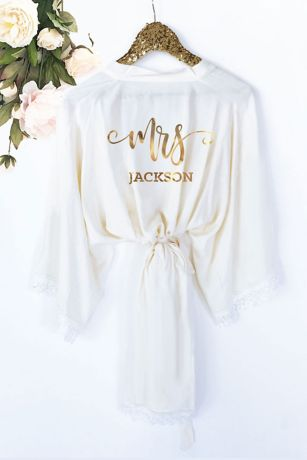 Personalized Mrs Cotton Lace Robe
