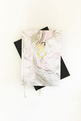 Personalized Pink Marble Monogram Journal