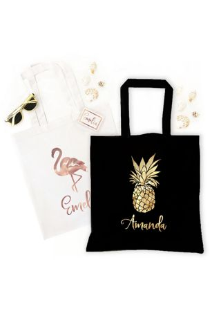 Personalized Tropical Tote Bags