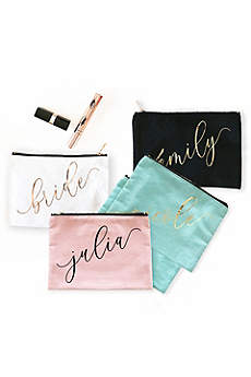 Personalized Name Canvas Cosmetic Bag