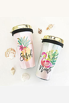 Personalized Tropical Travel Coffee Tumbler EB3226TRP