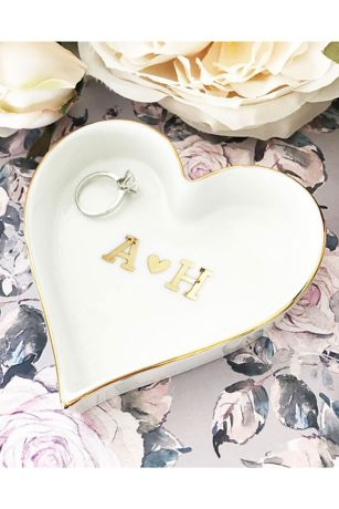Pers Heart Monogram Heart Shaped Ring Dish