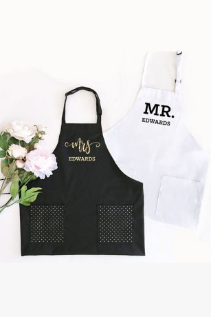 Personalized Mr or Mrs Apron