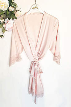 Blank Satin Lace Robes
