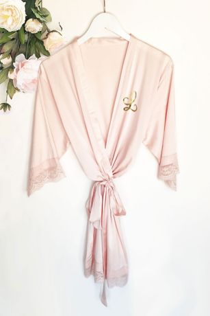 Monogram Satin Lace Robes
