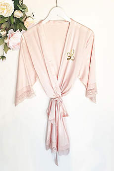 Monogram Satin Lace Robes
