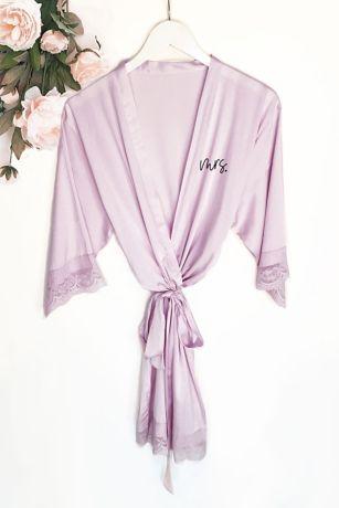 Mrs Satin Lace Robe