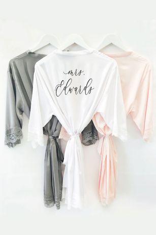 Floral Silk And Satin Bridesmaid Robes Davids Bridal