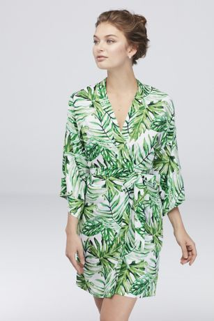 Tropical Palm Leaf Robe