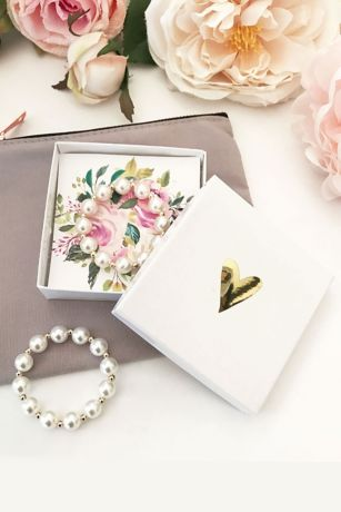 Flower Girl Pearl Bracelet with Gift Box